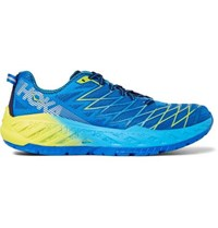 Hoka One One Clayton 2 Rubber Trimmed Mesh Running Sneakers Blue