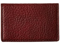Bosca Washed Collection Full Gusset Card Case Dark Brown Credit Card Wallet