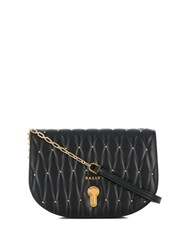 Bally Quilted Logo Crossbody Bag Black