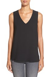 Women's Gibson V Neck Sleeveless High Low Blouse