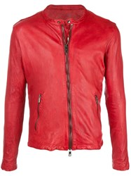 Giorgio Brato Fitted Zip Up Jacket Red