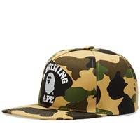 A Bathing Ape 1St Camo College Snapback Cap Green