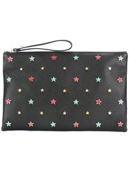 Red Valentino Star Embellished Clutch Black