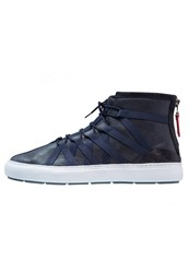 Clarks Laika Hightop Trainers Navy Blue