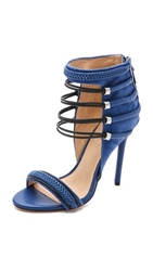 L.A.M.B. Katelyn Suede Sandals Intense Blue Black