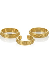 Arme De L'amour Set Of Three Gold Plated Rings Metallic