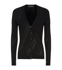 Versace Greco Knit Cardigan Female Black