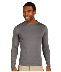 Hot Chillys Micro Elite Chamois 8K Crew Neck Granite Underwear Gray