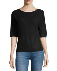 Christopher Fischer Cashmere Half Sleeve Sweater Black
