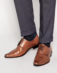 Frank Wright Leather Derby Shoes Tan