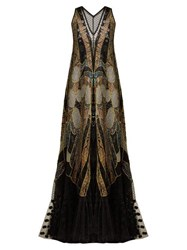 Romance Was Born Exoskeleton Chantilly Lace And Tulle Dress Black Multi