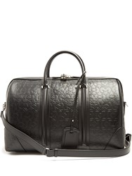 Givenchy Logo And Star Debossed Leather Holdall Black