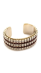 Holst Lee The Perfect Rhinestone Cuff Bracelet Clear Black