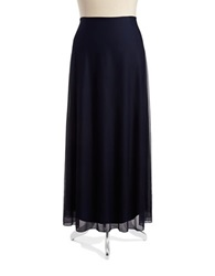 Cachet Plus Chiffon Maxi Skirt Navy