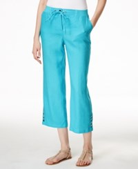Jm Collection Embellished Pull On Capri Pants Only At Macy's Turquoise Pool