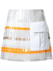 Manning Cartell Patch Pocket Striped Skirt White