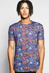 Boohoo Over Floral Sublimation T Shirt Red