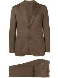 Dell'oglio Regular Two Piece Suit Brown