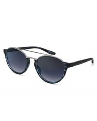 Barton Perreira Boleyn Half Rim Acetate And Titanium Sunglasses Midnight Silver