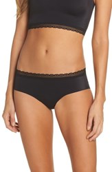 Naked Women's Almost Lace Trim Hipster Briefs Black