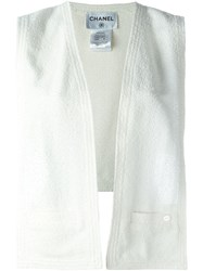 Chanel Vintage Boucla Knit Tabard White