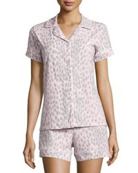Bedhead Animal Print Short Pajama Set Pink Gray Pink Grey Lynx