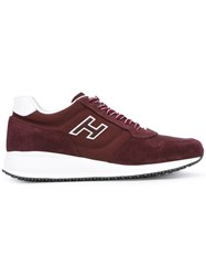 Hogan Interactive N20 Sneakers Men Suede Polyester Rubber 6.5 Red