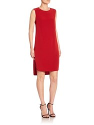 Dkny High Low Sleeveless Shift Dress Scarlet