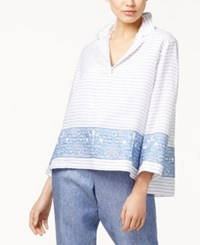 Max Mara Weekend Ortica Embroidered Tunic White