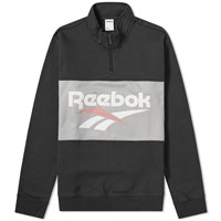 Reebok Retro Vector Quarter Zip Sweat Black