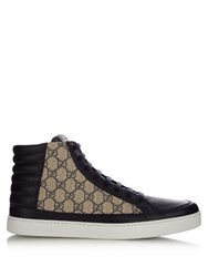 Gucci Gg Supreme High Top Trainers Navy Multi