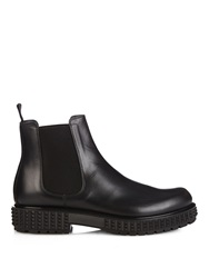 Valentino Punky Ch Leather Chelsea Boots