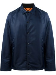 Rag And Bone Button Up Jacket Blue