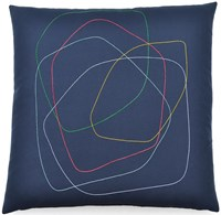 K Studio Concentric Circles Pillow Gray