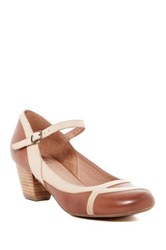 Miz Mooz Felicie Ankle Strap Pump Brown