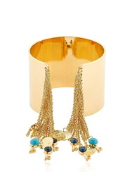 Tommaso Lonardo Chain Fringe And Charms Cuff Bracelet
