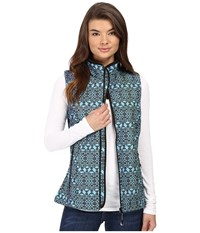 Roper Diamond Aztec Softshell Vest Blue Women's Vest