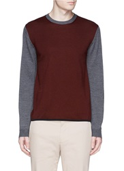 Armani Collezioni Crew Neck Sweater Red