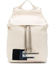 Rick Owens Drkshdw Patch Detail Backpack White