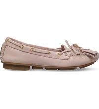 Carvela Line Leather Moccasins Nude