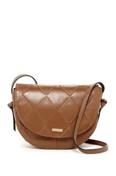 Tignanello In Knots Argyle Embossed Leather Saddle Crossbody Brown