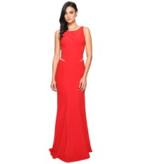 Faviana Ottoman Scoop Neck W Illusion Cut Out 7987 Scarlet Women's Dress Red