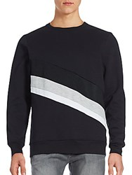 Twenty Cotton Blend Long Sleeve Pullover Black