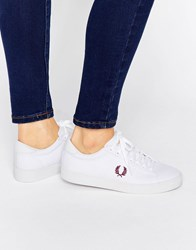 Fred Perry Spencer White Canvas Trainers White Port