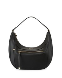 Furla Ginevra Medium Leather Hobo Bag Onyx Black