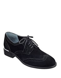Marc Fisher Katie Suede Wingtip Derby Shoes Black Suede