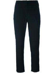 Ann Demeulemeester Tailored Cropped Trousers Black
