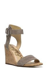 Sam Edelman Women's Willow Strappy Wedge Sandal Putty Leather