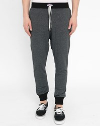 Sweet Pants Mottled Black Terry 2T Loose Joggers With Contrasting Black Pocket