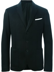 Neil Barrett Three Button Jersey Blazer Black